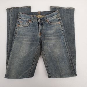 7 For All Mankind Dirty Wash Bootcut Jeans